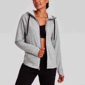 Target Fleece Zip Sweatshirt Charcoal Heather M